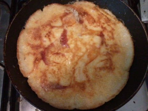 Eierpannekoek als lunch
